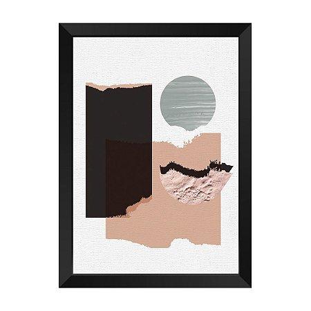 Quadro Textura Abstrat Guernica