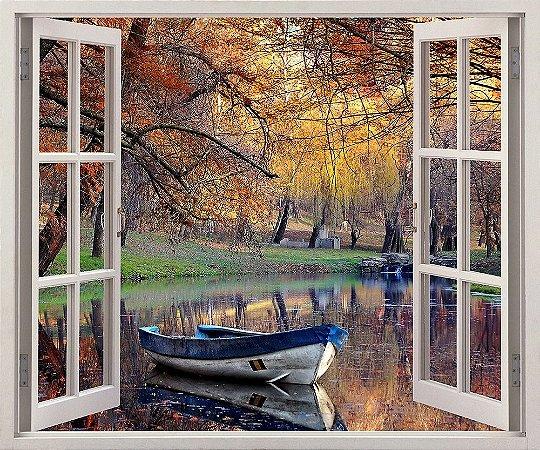 Adesivo Janela - Paisagem colorida do outono - 120x90cm