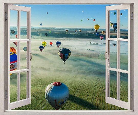 Adesivo Janela - Balões Chambley, França - 120x90cm