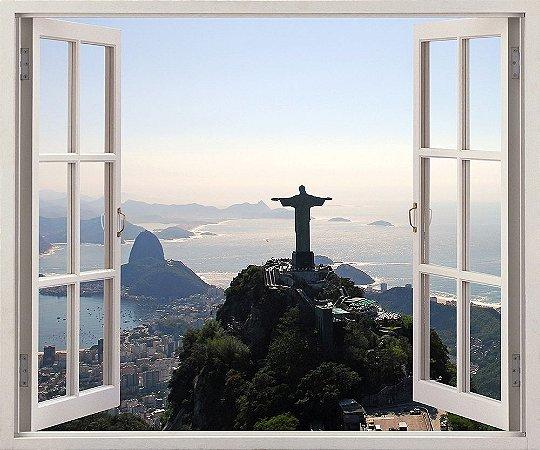 Vista aérea do Rio De Janeiro - 120x90cm