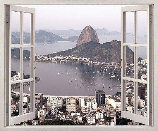 Baía de Botafogo no Rio de Janeiro - 120x90cm