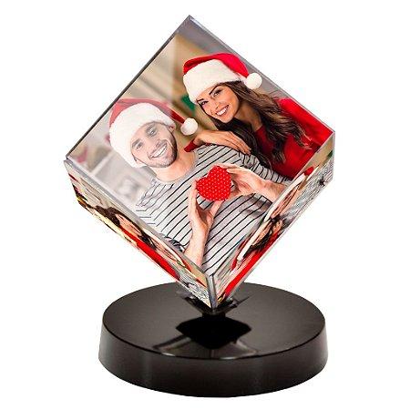 Cubo Fotográfico giratório personalizado com foto