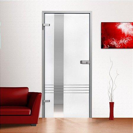 Adesivo jateado com linhas para portas de 60 a 100 cm de largura (altura até 215 cm)