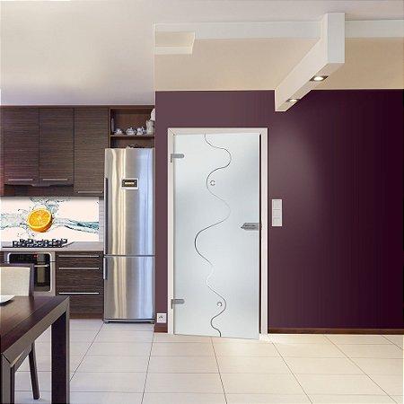 Adesivo jateado CWB para portas de 60 a 100 cm de largura (altura até 215 cm)