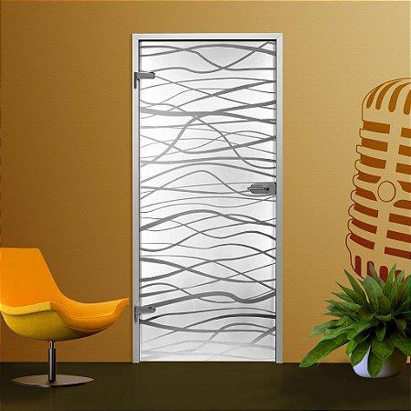 Adesivo jateado PWW para portas de 60 a 100 cm de largura (altura até 215 cm)