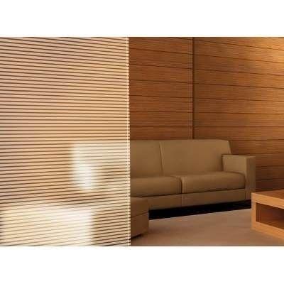 Adesivo jateado decorativo Listra  2,00 m. de altura X 1,00 m. de largura Com faixas 4,5 cm  Jateada e 1,0 cm transparente, Horizontal. média privacidade