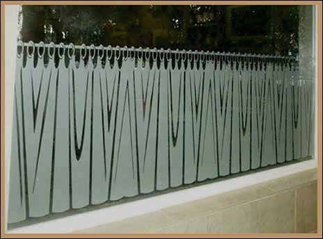 Adesivo jateado cortina - Largura 095cm x largura 060cm