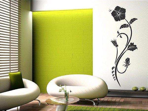 Adesivo de parede - Floral Hibisco