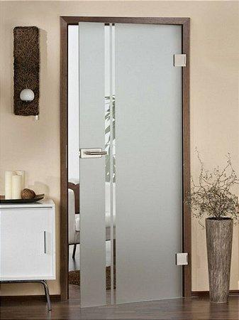 Adesivo Jateado Para Portas, Janelas, Box e Divisórias de Vidro Altura 210x100 cm