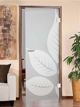 Adesivo Jateado e folhas Brancas 210x080 cm