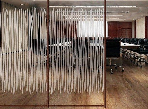 Adesivo Decorativo Jateado - Curvas 100x100cm
