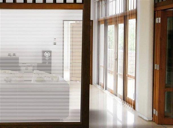 Faixas de Adesivo Jateado - Persianinha 100x100cm - Mitsui adesivos