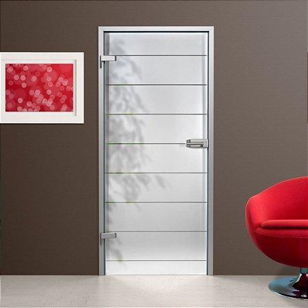 Película Adesivo jateado Para Vidros Faixas Altura 210x100 cm largura