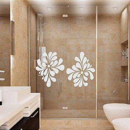 Adesivo Jateado Decorativo - Flor pop 1 unidade de 0,25x0,40 cm