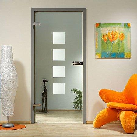 Adesivo jateado para portas - Kit Com 4 um. 0,20x0,20 cm