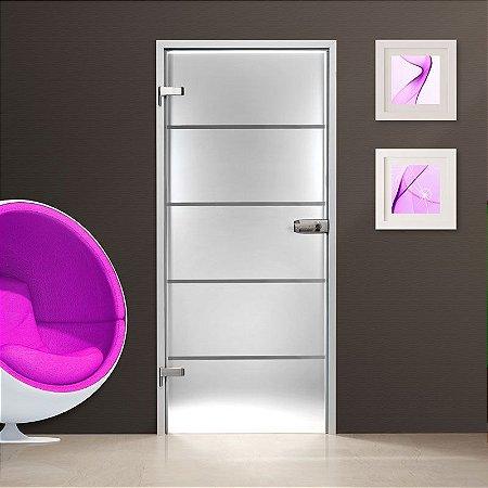 Adesivo jateado para portas - 210x100 cm - para vidros com largura de 50 a 100 cm