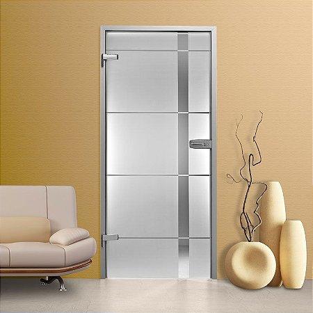 Adesivo decorativo jateado para portas - 2,15x1,00m (para porta de largura de 50 até 100 cm)