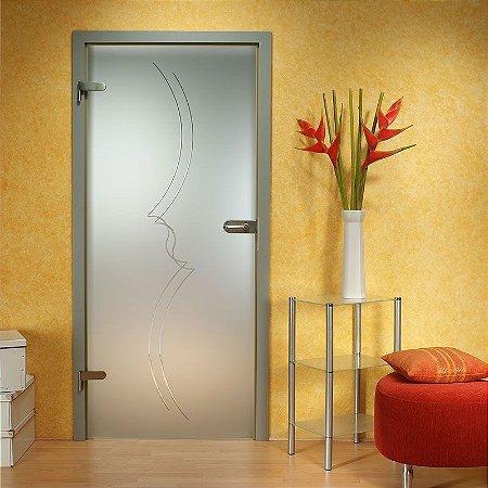 Adesivo decorativo jateado para portas - 210x0,80