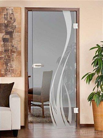 Adesivo Jateado Decorativo 210x45 cm (para vidros acima de 50 cm largura)