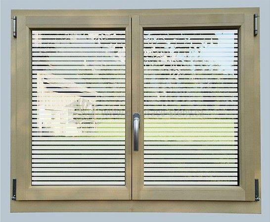 Adesivo jateado vazado persiana para vidros 100x098 cm