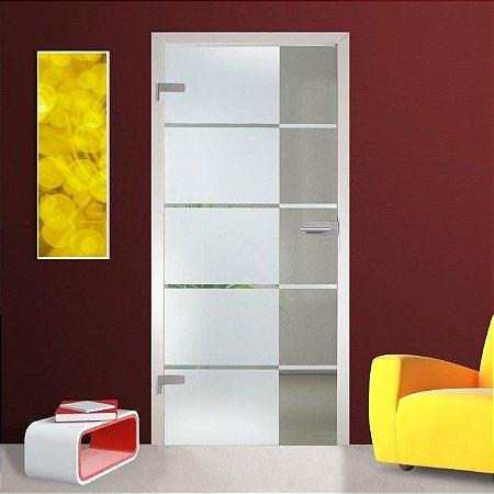Adesivo jateado faixas retangulares - 210x100 cm - para portas de 50 até 100 cm de largura