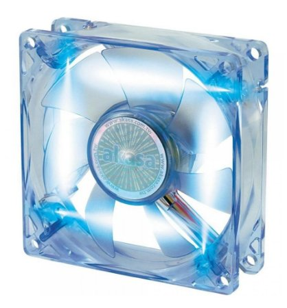 COOLER FAN AKASA LED AZUL 80MM 8CM AK-170CB-4BLS NOVO