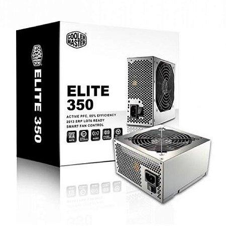 FONTE ATX 350W REAL COOLER MASTER ELITE 350 RS-350-PSAR-I3 BIVOLT NOVO