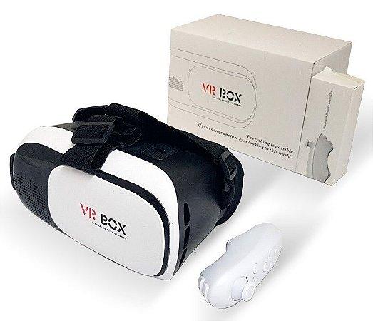 ÓCULOS 3D P/ CELULAR VR BOX 2.0 + CONTROLE BLUETOOTH 4.0