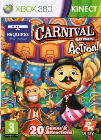 Jogo Carnival Games In Action Kinect Xbox 360 Novo Lacrado