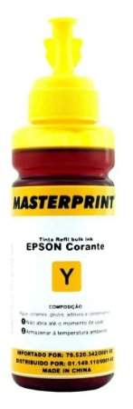 TINTA EPSON CORANTE UNIVERSAL MASTERPRINT 100 ML AMARELO PARA BULK INK