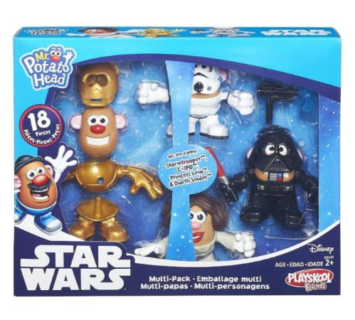 KIT MR POTATO HEAD STAR WARS HASBRO 4 BONECOS CABEÇA DE BATATA