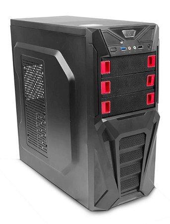 GABINETE GAMER C3TECH MT-G200BK USB 3.0 SUPORTA SSD