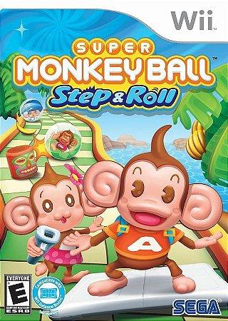 SUPER MONKEY BALL STEP & ROLL WII NOVO LACRADO