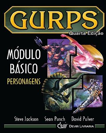 GURPS MÓDULO BÁSICO PERSONAGENS 4º EDIÇÃO LIVRO RPG CAPA DURA