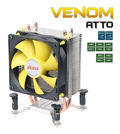 COOLER GAMER P/ PROCESSADOR INTEL E AMD AKASA VENOM ATTO AK-CC4012EP01