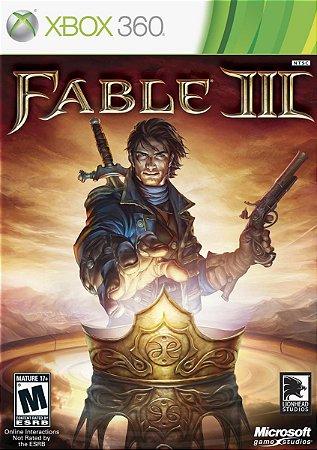 FABLE III 3 XBOX 360 MÍDIA FISICA LACRADO