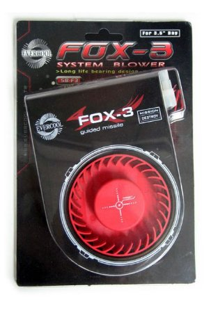 COOLER EXAUSTOR EVERCOOL FOX-3 SB-F3 P/ BAIA DE 3.5 FRONTAL