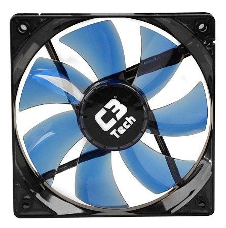 COOLER FAN LED AZUL C3TECH F7-L100BL STORM F7 12CM 120MM P/ GABINETE