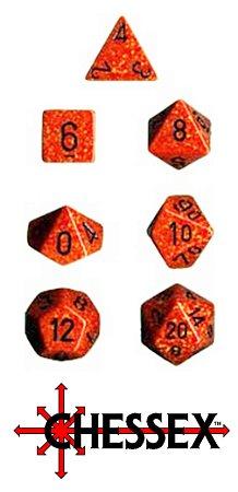 7 DADOS P/ RPG E TABULEIRO MESCLADO CHESSEX FIRE CHX 25303