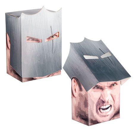 DECK BOX PORTA CARTAS KNIGHT BOX GUERREIRO P/ MAGIC POKÉMON E YU-GI-OH! P/ MONTAR