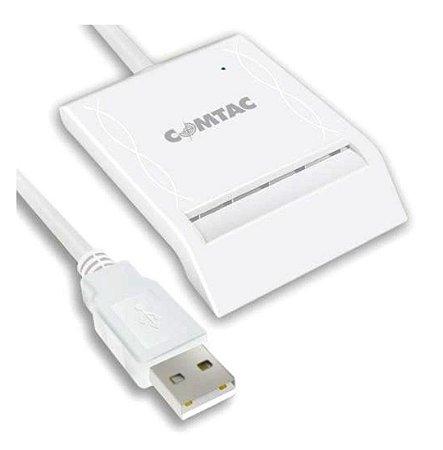 LEITOR E GRAVADOR DE CARTÃO SMART CARD COMTAC 9202 USB 2.0 WINDOWS 10