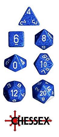 7 DADOS P/ RPG E TABULEIRO MESCLADO CHESSEX WATER CHX 25306