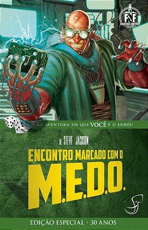 ENCONTRO MARCADO COM O M.E.D.O. LIVRO JOGO RPG FIGHTING FANTASY