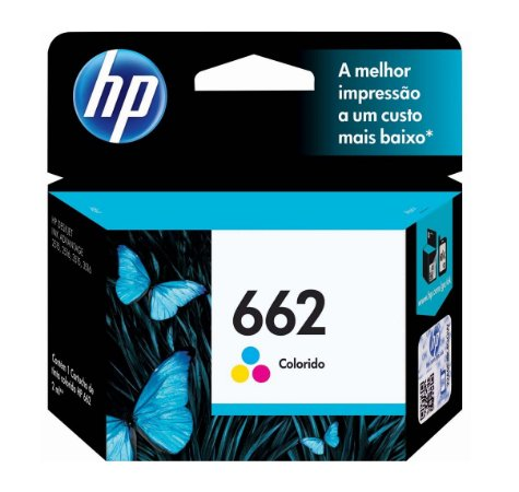 CARTUCHO HP 662 COLORIDO CZ104AB 2 ML INK ADVANTAGE ORIGINAL LACRADO