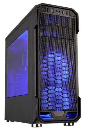 GABINETE GAMER C3TECH MT-G600BK USB 3.0 SUPORTA SSD C/ 1 COOLER LED AZUL