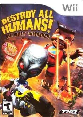 DESTROY ALL HUMANS BIG WILLY UNLEASHED WII E WII U NOVO LACRADO