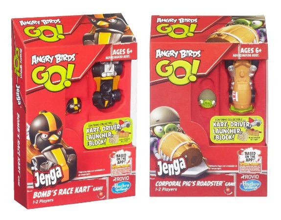 ANGRY BIRDS GO! JENGA 2 KITS COMPLETOS BOMB + CORPORAL PIG