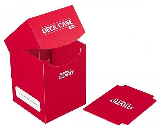 DECK BOX PORTA CARTAS GRANDE ULTIMATE GUARD VERMELHO P/ YU-GI-OH! POKÉMON MAGIC