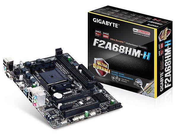 PLACA MÃE AMD FM2+ FM2 GIGABYTE GA-F2A68HM-H MICRO ATX DDR3