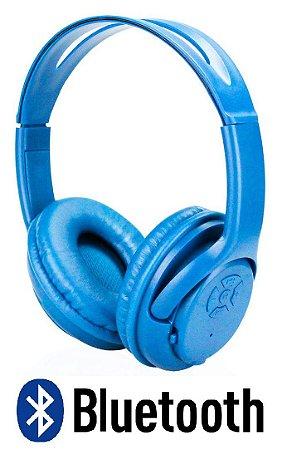 FONE BLUETOOTH KNUP KP-360 AZUL MICRO SD MP3 MICROFONE